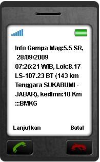 Info Gempa via SMS
