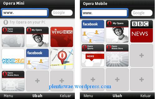 Untuk kongkritnya perbedaan Opera Mini 6 dan Opera Mini 11 adalah ...